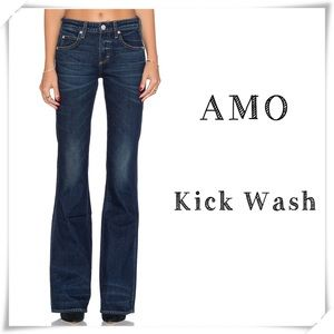 AMO Kick Wash True Blue Flare Jeans